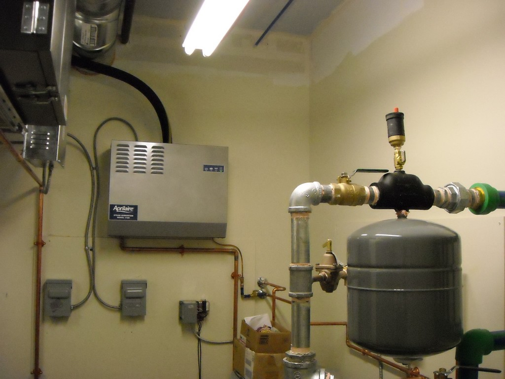 Steamhumidifier on Remote Refrigeration Unit System