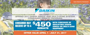 Daikin Rebate Promo Extended until July 31/17